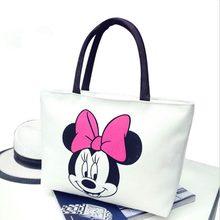 2017 New Women's Handbags Fashion Shoulder Bags Messenger Bag Cute Cartoon Pattern Mickey Hello Kitty Tote Shopping Bag Bolsas(China)