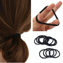50pcs Women Elastic Hair Ties Band Ropes Rings Ponytail Holder Accessories Black(China)