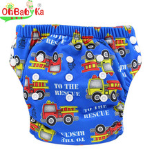 Baby Potty Training Pants Bamboo Cloth Diaper Washable Learning Pants 2016 Brand Adjustable Baby Pants for 3-15KG 12 Colors(China)