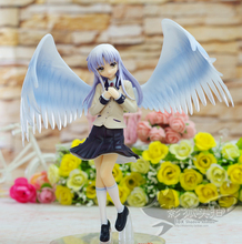 20cm Angel Beats Tachibana Kanade Tenshi School Uniform Lovely Wing dolls PVC figure collectible Model toy