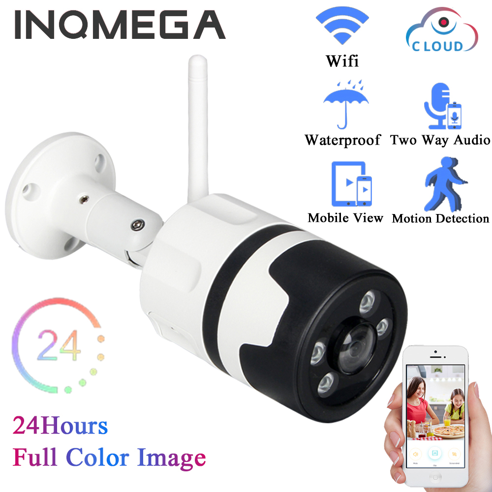 INQMEGA Cloud IP Camera HD 720P  WIFI Cam Indoor Home Security Night Color Vision Weatherproof Outdoor IP66 Network CCTV<br>