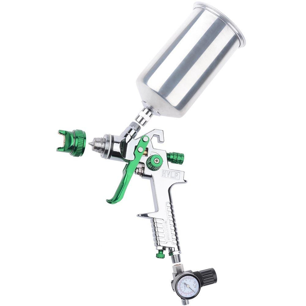 New Lowest Price 2.5mm 1L HVLP Gravity Feed Spray Gun Auto Paint Primer Metal Flake with Regulator High Quality<br><br>Aliexpress
