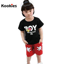 Hot Sale Cheap Stuff Baby Boys Girls Clothing Set Cute Shirt + Mickey Shorts Pants Kids Casual Clothes Suits Vetement KKT011