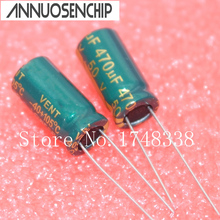 50V 470UF Power Capacitor 10*20mm 470uf 50v electrolytic capacitor Line (50pcs) Free shipping(China)