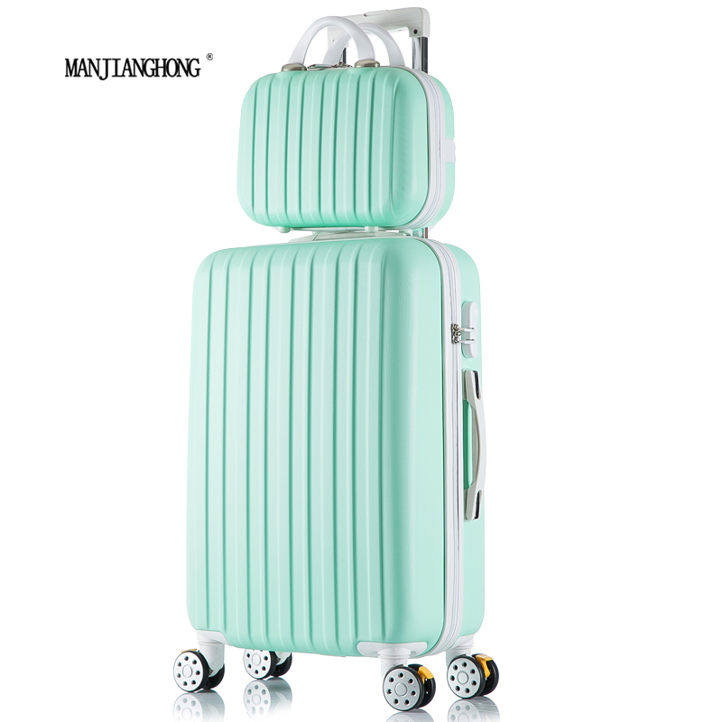 26+12inch New surface like sandpaper stripes trolley suitcase sets/ 20 boarding luggage/10Colors universal wheels trolley candy<br><br>Aliexpress