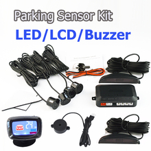 Viecar Buzzer /LCD Display/ LED Display 4 Sensors 22mm Car Parking Sensor Kit Reverse Backup Car Parking Radar Monitor(China)