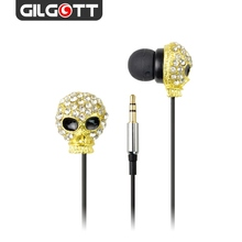 High Quality Metal Skull 3.5mm Stereo Headphones Without Mic Earphone For iPhone 4/5/MP3