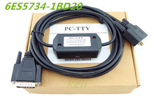 Free ship 1PCS  PC-TTY PC/TTY RS232 S5 cable 6ES5734-1BD20 (DB15) 6ES5 734-1BD20 S5 PLC adapter PC TTY SIMATIC S5 734-1 CABLE