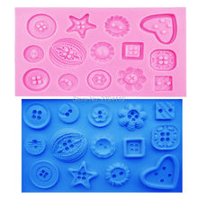 M162 DIY Button shaped Christmas wedding decoration silicone mold fondant sugar cooking tools bow mould DIY cake decoration