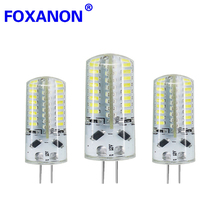 Foxanon Brand G4 3014 SMD 12V 3W 5W 6W Dimmable Led Light 24 48 64Leds Corn Bulb Silicone Lamps Chandeliers Lighting 1PCS(China)