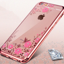 LOVECOM For iPhone 4 4S 5 5S SE 7 Plus 6 6S Plus Back Cover Secret Garden Soft TPU Electroplate Anti Shock Mobile Phone Cases