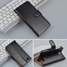 Hot Luxury Business Style Flip Leather Case For Lenovo A526 with Stand and Card Holder 4 Colors in Stock