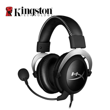 Kingston HyperX Cloud Silver Gaming Headphone with Microphone Volume Control Headset 3.5mm Plug Steelseries Auriculares(China)