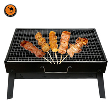 More Convenient BBQ Tool Black Iron Outdoor Foldable Portable Grill Barbecue Essential Fits 3-5 Person(China)