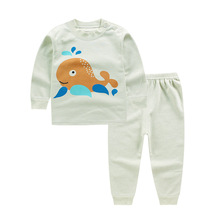 2017 Baby Boy's girls Clothing Sets children's pajamas suits Baby sleepwears Kids cotton long sleeve t-shirts+pants lovely cloth(China)