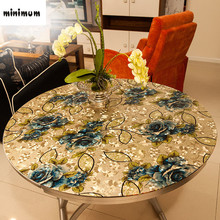 Soft embossed PVC Glass table mats Crystal plate Waterproof anti-oil stamp round tablecloth Can be customized free shipping
