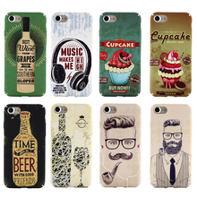 QALART Vintage Retro Old School Music Beer Wine Liquor Bottle Gentleman Cupcake Case Cover for iPhone 5 5s SE 6 6s 7 & Plus