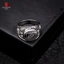 Titanium Steel Men's Military Middle Finger Superhero Rings Cool USA Air Force Signet Wide Silver Ring(China)