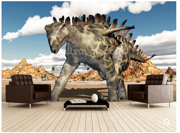 Custom children wallpaper, Dinosaur Huayangosaurus,3D cartoon mural for living room bedroom TV backdrop waterproof wallpaper<br>