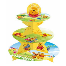 1set Winnie Pooh 3-tier cake stand cupcake holder kids birthday party supplies baby shower party favor decor cupcake stand