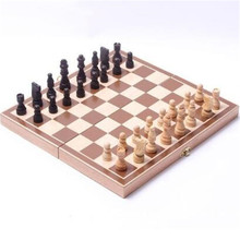 Wooden chess, high-grade chess, folding International Chess Set Board Game 29cm x29cm Foldable Kids Gift Fun Hot(China)