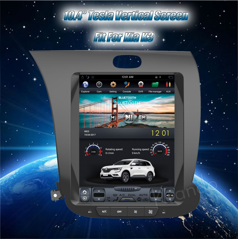 Krando 10.4'' Vertical screen android car radio multimedia for kia k3 big screen navigation with gps system (3)