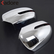 Kadore Ca Styling For KIA K2 RIO 2011 2012 ABS Chrome 2pcs/set Auto Side Door Rearview Rear View Mirror Cover Sticker Frame