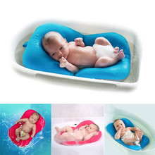 High Quality Anti-skid Baby Bathing Mat Baby Bathtub Shower Bed Non-Slip Security Baby Bath Pad Newborn Seat Soft Cushion(China)