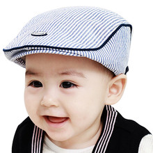 Infant Cotton Baby Boys Girls Hat Soft Hat Baby Cap Photo Props Cute Baby Infant Boy Girl Stripe Beret Cap Peaked Baseball Hat