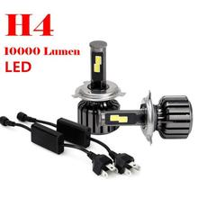 willtoo NEW H4 9003 HB2 120W 10000LM CREE chips LED Headlight Kit Hi/Lo Beam Bulbs 6000K White IP68 Waterproof Head lights(China)