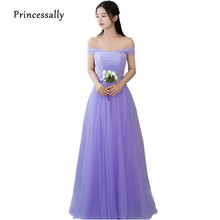 New Lavender Bridesmaid Dresses Floor-Length Strapless Sexy Off the Shoulder Pleat Elegant Cheap Prom Party Dresses Under 50