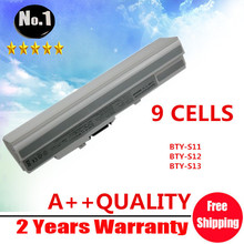 WHOLESALE New WHITE 9 cells laptop battery for msi WIND u100 u90 U200 U230 series BTY-S11 BTY-S12 BTY-S13  Free shipping