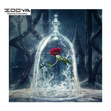 ZOOYA Diamond Embroidery DIY Diamond Painting Red Rose Flower Ice Diamond Painting Cross Stitch Rhinestone Decoration CJ861