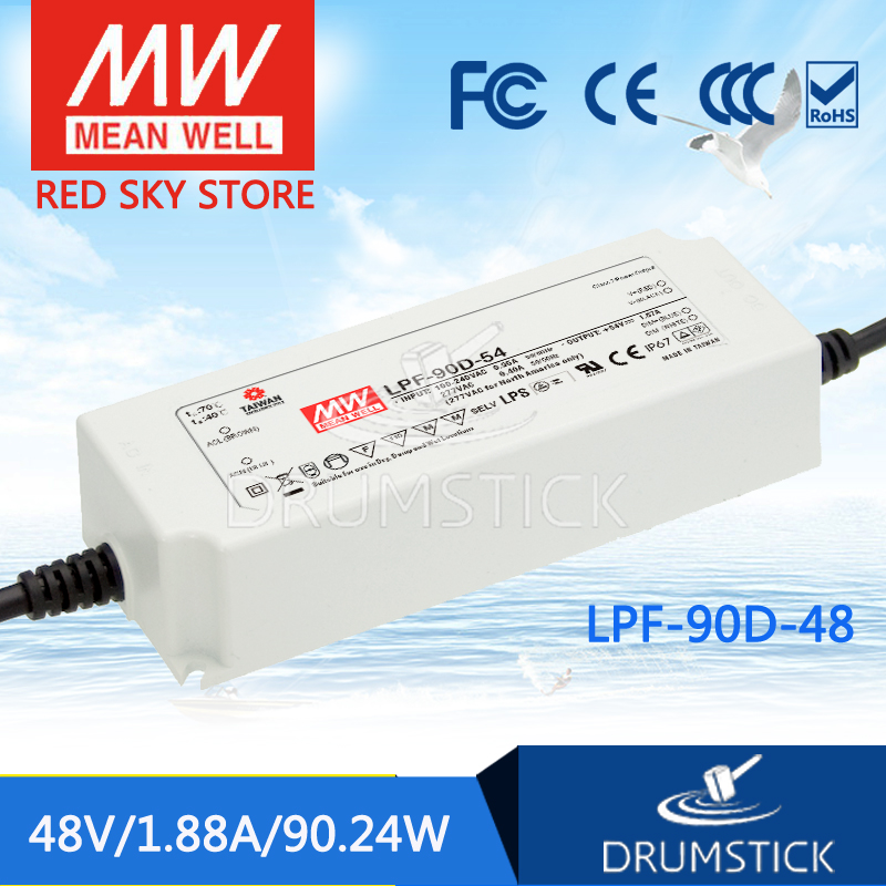Best-selling MEAN WELL LPF-90D-48 48V 1.88A meanwell LPF-90D 48V 90.24W Single Output LED Switching Power Supply<br>
