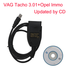 Newest VAG Tacho 3.01 and for Opel Immo Airbag Scanner OBD/OBD2 for Opel Immo Reader For Opel Immo Pin Code Reader(China)