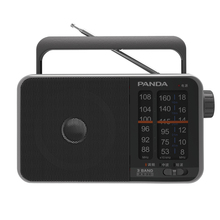 Panda T-13 portable compact pointer FM medium wave shortwave three-band operation simple sound quality clear radio(China)