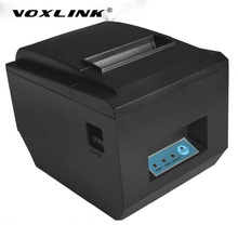 VOXLINK Auto 80mm Thermal Bluetooth Receipt Printer 300mm/s POS thermal printer Bluetooth USB port for Windows android IOS