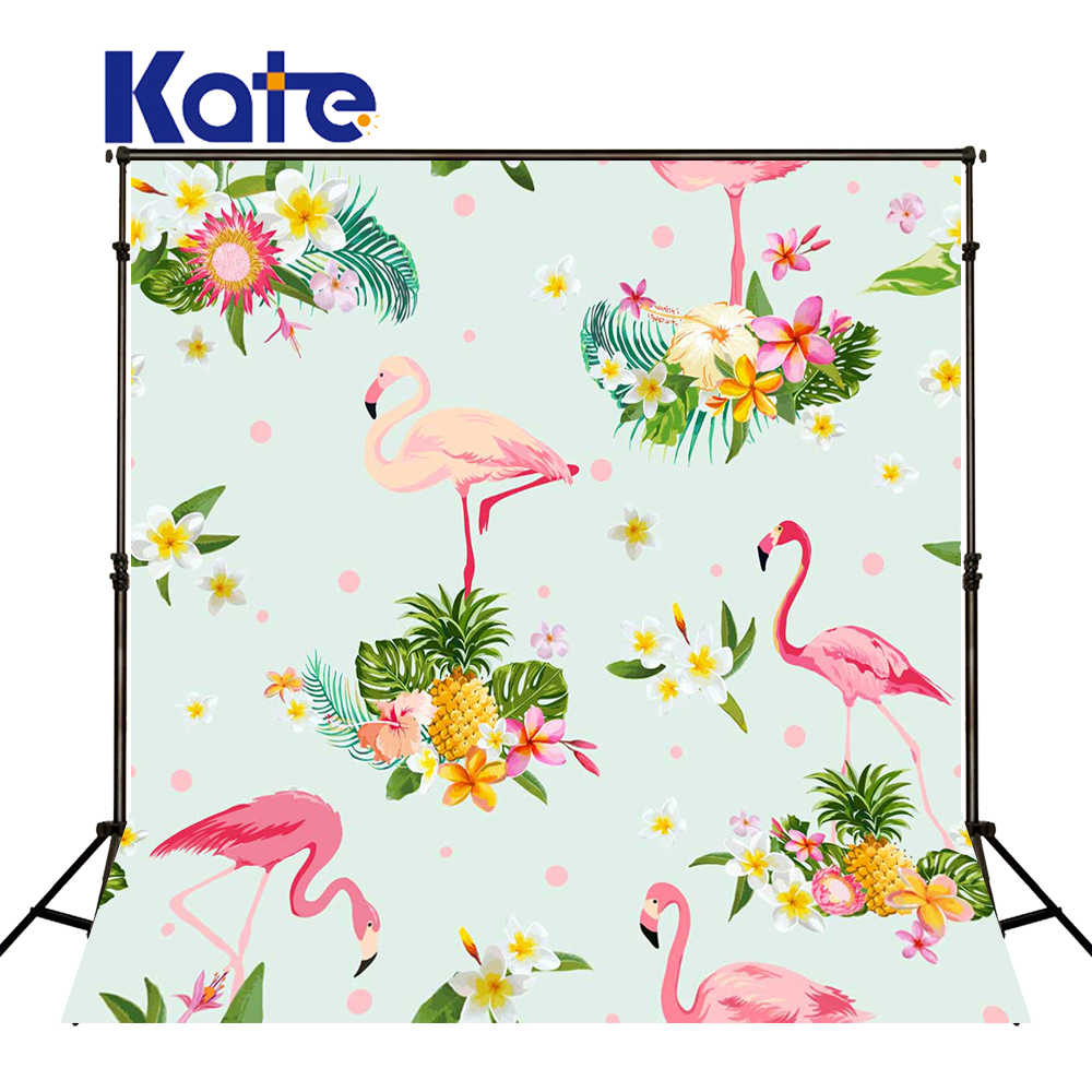 KATE Photography Backdrops Naturism Children Photos Pink Flamingo Background Newborn Backdrop Cartoon Tapestry for Photo Studio<br>