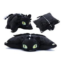 40*50cm 1Pcs How to Train Your Dragon 2 Toothless pillow Night Fury Firedragon nightmare Plush Toy Stuffed Teddy Dolls