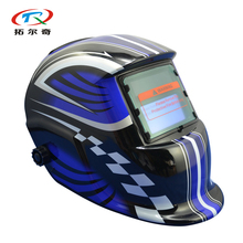 manufacturer Automatic Darkening Welding Helmet Welding Cap Blue Color Solar Power Welding Mask MIG TIG For Welder HD01-2233DE