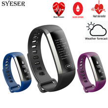 SYESER new M2 smart band blood pressure oxygen weather bracelet heart rate monitor Wristband sport smartband pk xiomi mi band 2