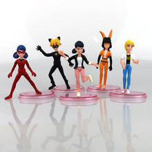 Factory Price 1000pcs/200set 11cm Cartoon Miraculous Ladybug Model Collection Action Figure Toys for Children Party Toy
