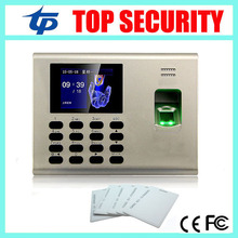Free shipping linux system fingerprint time attendance and access control with RFID card built in battery export excel format(China)