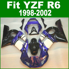 100%fit Fairings For YAMAHA R6 98 99 01 02 top-selling Fairing kit ( blue + white ) free customize ll04