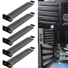 Wholesale 5pcs PCI Slot Cover Dust Filter Blanking Plate Hard Steel Black ModernDesign Lowest Price Overvalue