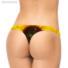 Buy G-string Womens Sexy Lingerie Thongs G-string T-back 3D Women Sunflower Print Ladybug Animal Panty Knickers Lingerie Underwear