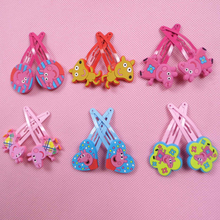 12pcs Hot Sale PP Pig Hair Accessories Cartoon Animal Hair Clips Cute Kids Hairpins for Girls Hair Ornaments