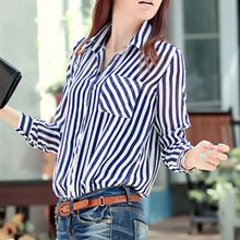 New Arrival Stripe Shirt Women Long Sleeve Summer Shirt
