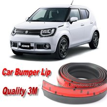 Car Bumper Lips For Suzuki Ignis / Auto Car Front Lip Deflector Lips Skirt / Body Kit Strip / Body Chassis Side Protection(China)