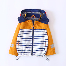Everweekend Kids Fashion Boys Stripe Blue Red Color Windbreak Coats Baby Boys Outwears Autumn Jackets Boys Coats Clothes(China)